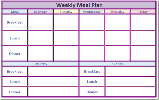 Daily Meal Planner Template – My Blog