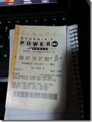 my unlucky pb ticket