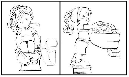 Imagen De Baño Para Colorear:higiene jpg ir al baño tags colorear higiene secuencia temporal