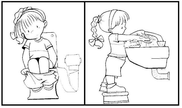 Ba os infantiles para colorear for Sanitarios infantiles