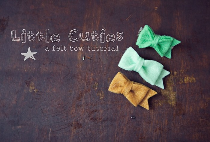 Little Cutie Felt Bow Tutorial by Wild Wandering