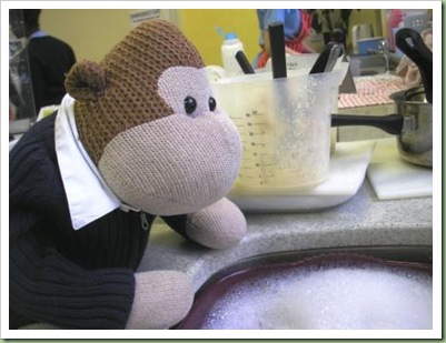 Washing Up after Masterchef competition