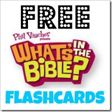 What's in the Bible? Free Review Flashcards. Find more free printables at http://a-heart4home.blogspot.com
