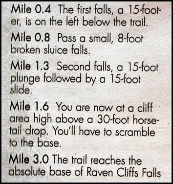 22f - Raven Cliffs Falls - List of Falls by mileage