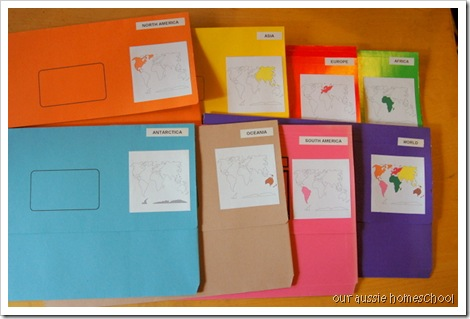 Continent Folders ~ Our Aussie Homeschool