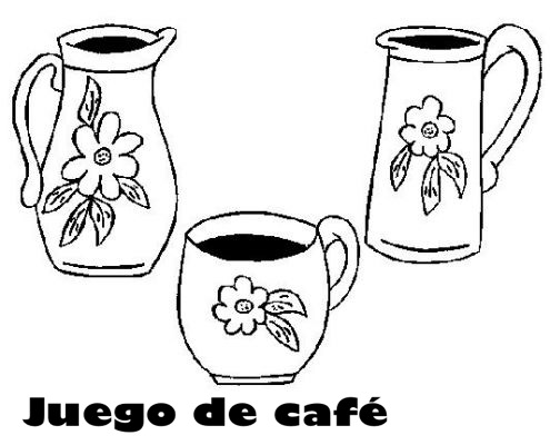 Juegos de cafe para colorear for Juego tazas cafe