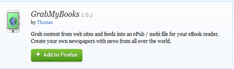 สร้างเอกสาร epub จาก feed และหน้าเวบใน  Firefox