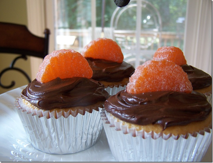 Orange Chocolate Cupcakes 024