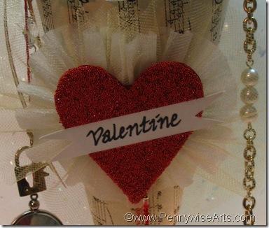 Victorian Valentine Cone heart