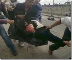 Syria protestor shot
