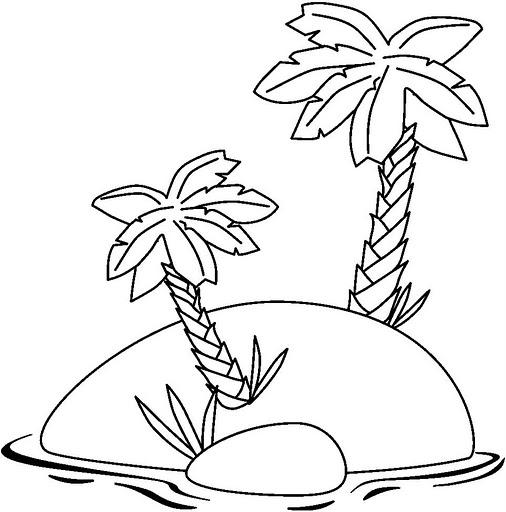 Dibujos de islas para colorear - Islas con ninos ...