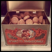 Day #48 - Golden tin of amaretti biscuits