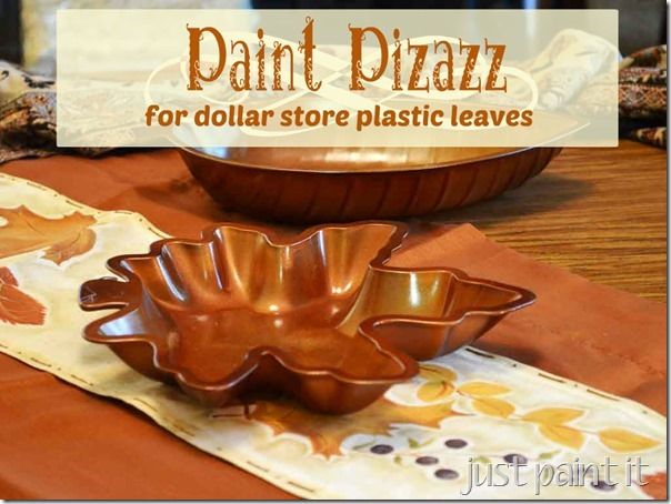 Paint Pizazz for plastic leaves