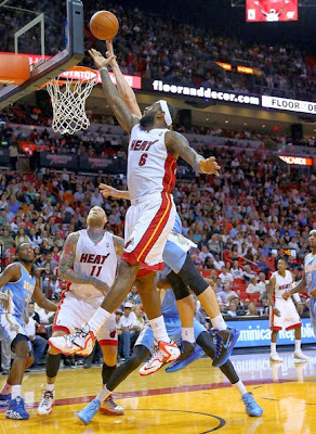 lebron james nba 140314 mia vs den 06 LeBron Goes Back to LeBron 11 with New Miami Heat Home PE