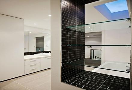 Casa con fachada moderna en un barrio de melbourne for Fachadas con azulejo