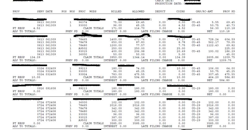 Healthcare IT EMR PMS: Sample EOB
