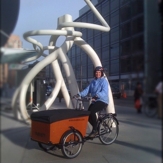 Box cargo bike in Calgary