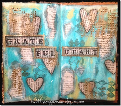 grateful heart journal 5 w border