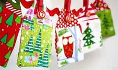 fabric advent gift tag calendar
