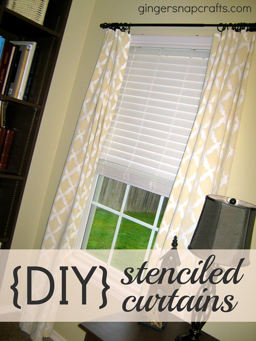 stenciled curtains tutorial