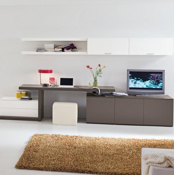 gris blanco oficina de casa moderno