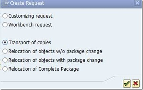 Creating Transport Of Copies