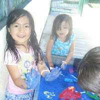Water and Sand Table Fun 7.9.12