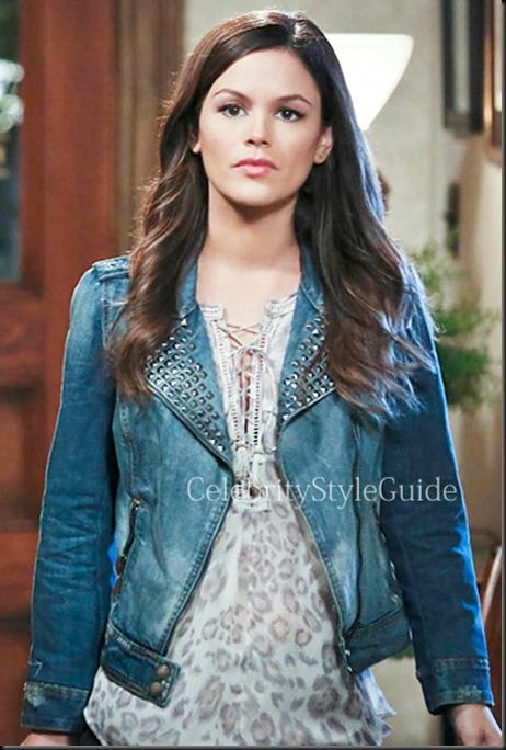 Zoe-Hart-Rebecca-Taylor-Leopard-print-silk-chiffon-blouse-and-Zara-Denim-Jacket