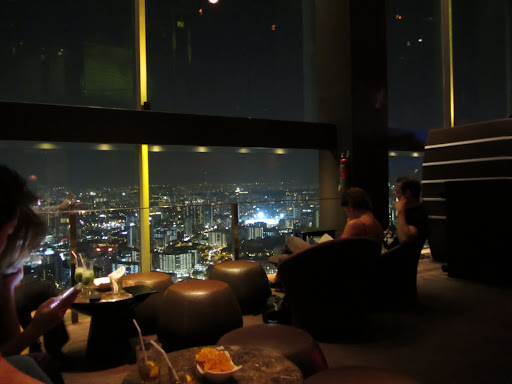 Drinks with a view at the New Asia SkyBar on the 71st floor of the Swissotel.