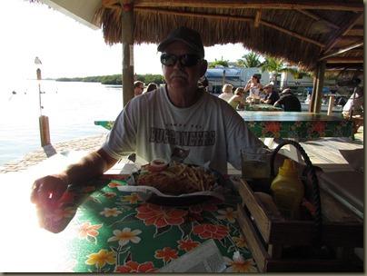 hogfish sandwich at geiger key