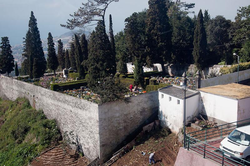 26. Не менее крутое земледелие и, кажется, кладбище. Канатная дорога. Фуншал. Мадейра. Португалия. Круиз на Costa ConCordia.