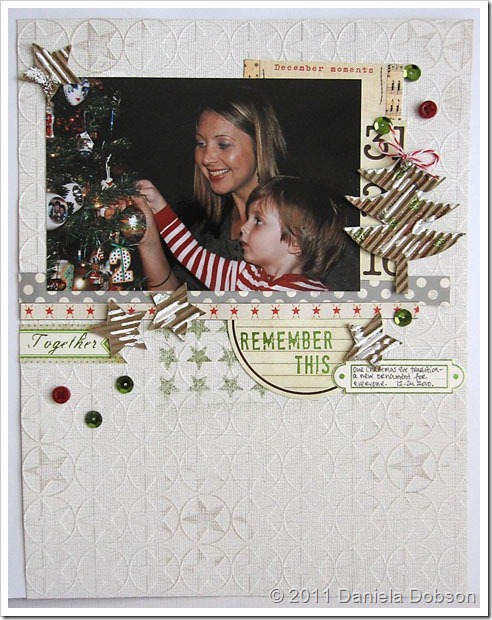 Remember this Daniela Dobson Clearsnap Emboss Gloss Design Adhesives Smooch Glitz Christmas