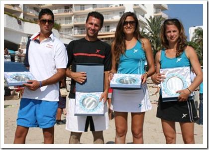 Los jugadores Drop Shot de tenis playa se proclamaron camepones del España, el pasado 2 de octubre en Ibiza.