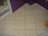 New tiles, ready for grout