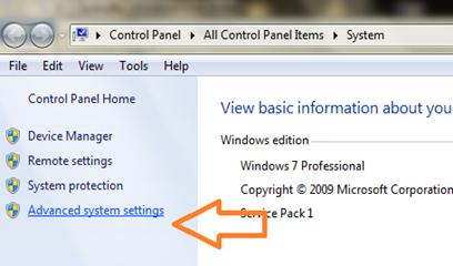 การตั้งค่าเปลี่ยนชื่อให้คอมในระบบปฏิบัติการ windows 7