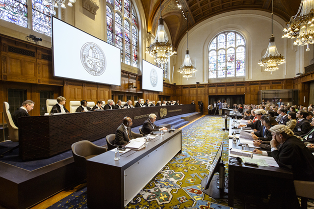 Australia brings its last case against the Japanese whaling program at the International Court of Justice (ICJ), 13 July 2013. Photo: AAP