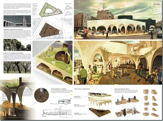 CASABLANCA_international architecture competition_AC-CA_Plaza de un Mercado Sustentable_Sustainable Market Square _Place d'un Marché Ecologique_Mencion de Honor_3