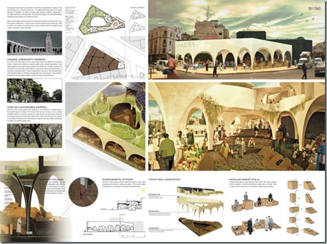 CASABLANCA_international architecture competition_AC-CA_Plaza de un Mercado Sustentable_Sustainable Market Square _Place d'un Marché Ecologique_Mencion de Honor_3