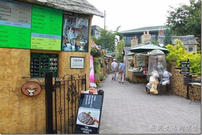 日本北九州-由布院街道。這個歐式小矮屋商店街聚落,大多販賣一些舶來品。拍起照來很好看!像是一幅畫般。