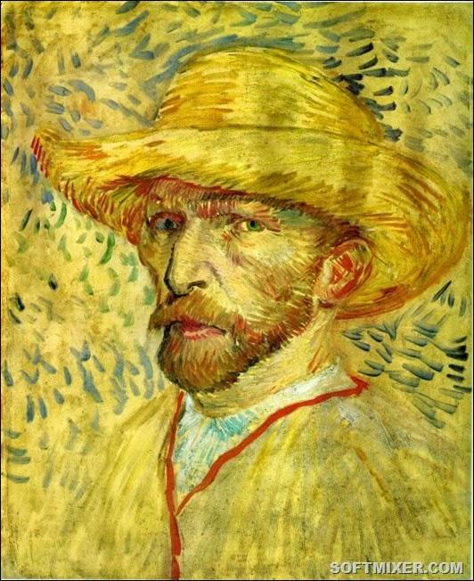 Винсент Ван Гог. Автопортрет в соломенной шляпе. 1887. Картон, масло, 41х33. Музей Ван Гога, Амстердам