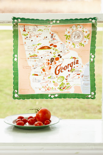 Georgia handkerchief. (Martha Stewart Living, July 2010)