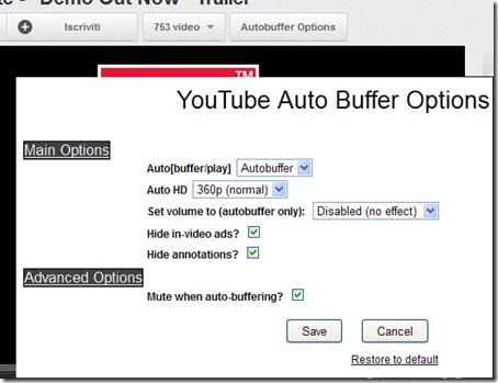 Autobuffer Options