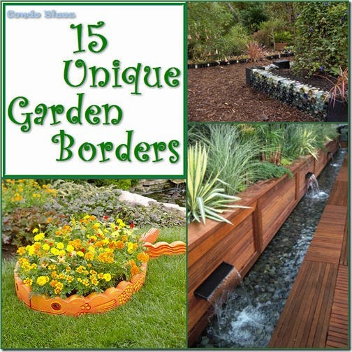 Garden Border Edging Ideas scrap treated wood as garden edging 15 Unusual Garden Border Edging For The Garden