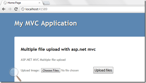 Multiple file upload in asp.net mvc with HTML5