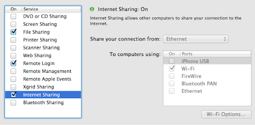 how to turn on home sharing on my macbook