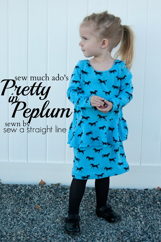 pretty in peplum sew a straight line