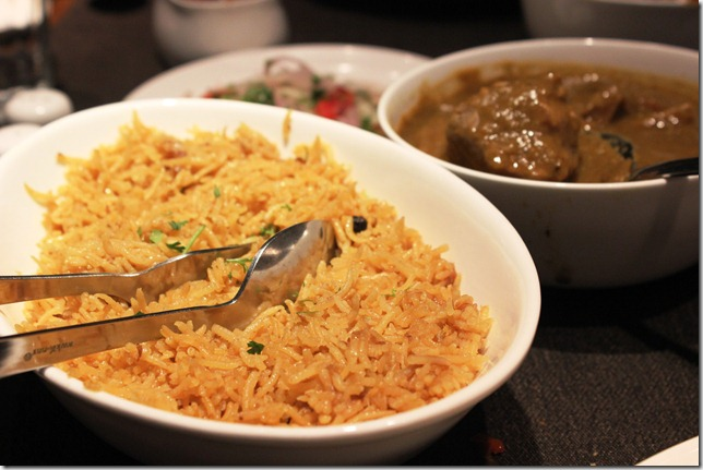 oily dhansak rice