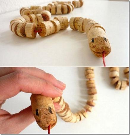 serpiente corcho pintaryjugar