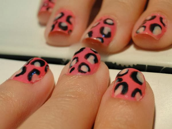 Pink Leopard Nails Pink Leopard Nail Designs