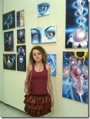 Corina Chirila la Parlament sala Constantin Brancusi expozitie de tablouri de vis